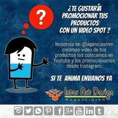 Un vídeo para promocionar tus producto ... Una idea excelente. #agenciasmm #medellin #bogota #riodejaneiro #saopaulo #lima #quito #caracas #panama #costarica #guatemala #puertorico #cartagena #cali #barranquilla #mexico #latinoamerica #riodejaneiro