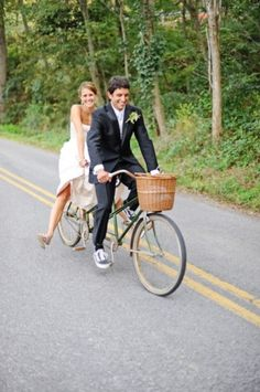 idea: have bikes to ride around in between wedding and reception