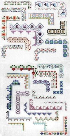 Punto De Cruz Counted Cross Stitch Design: Bountiful Borders - Crafting For Holidays Cross Stitch Boarders, Counted Cross Stitch Patterns, Cross Stitch Designs, Cross Stitching, Cross Stitch Embroidery, Embroidery Patterns, Hand Embroidery, Cross Stitch Flowers Pattern, Free Cross Stitch Charts