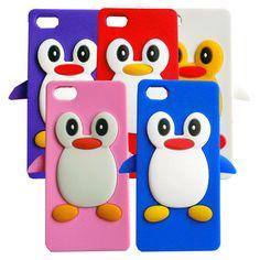 Coque iPhone 5 pingouin en silicone plusieurs coloris  Pour passer commande, rendez-vous directement sur : http://coque4you.com/coques/193-coque-iphone-5-pingouin-en-silicone-plusieurs-coloris.html