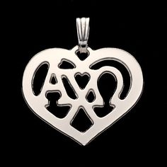 Alpha Chi Omega, silver plated pendant