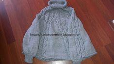 Handmade tricotaje: Poncho tricotat