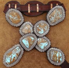 Slab turquoise and SSilver concho belt :)