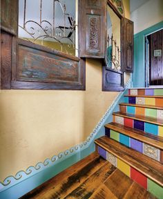Our Antique Barnboard Oak flooring and stair treads