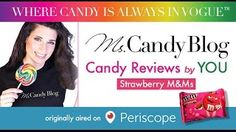 #CandyReview by #Periscope audience of Strawberry M&Ms for #ValentinesDay by #MsCandyBlog