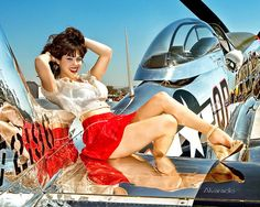 Collection of Aviation Pin Up and Nose Art copyrights belong to their respective owners. These are images I've found publicly accessible while browsing the Internet, unless otherwise stated. Mitsubishi Lancer Evolution, Nose Art, Bob Marley Tattoo, Mode Pin Up, Tattoo Foto, Pin Up Girl Vintage, Retro Vintage, Concours Photo, Girls Twitter