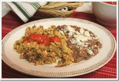 An easier version of steak and eggs, also known as machacado con huevo in Spanish. This is a traditional dish in the northern state of Nuevo León.