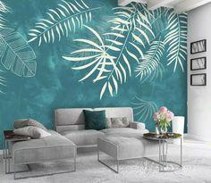 Café Design, House Design, Design Ideas, Wall Paint Patterns, Exotic Homes, Wall Painting Decor, Wall Painting Living Room, Wall Paintings, Blue Painting