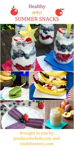 5 Simple, Healthy, and Hydrating Snacks for Summer thanks to CooktheStory.com and ProduceforKids.com #produceforkids