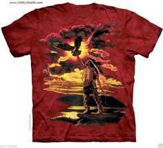 Native Eagle Feather T-Shirt / Eagle Tie Dye Tee