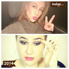 Me now and then...