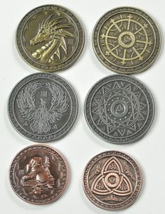 Fantasy Sci-Fi Space 1 Game /& 10 Credit Coin Set- LARP Role Playing RPG 5