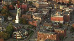 Aerial view of Bangor, Maine.