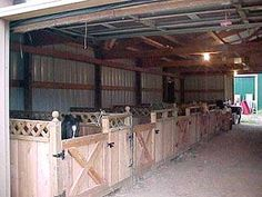AWWW.. so cute!  Makes ya want to buy some fat, furry,  ponies! Cheap to do for non finished out side of barn, I think.