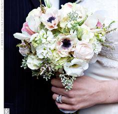 White Vintage Bridal Bouquet