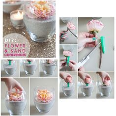 Stunning and easy #diy centre piece #flower and sand #crafting