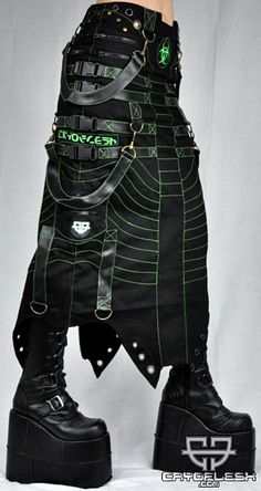 Biohazard Decay Long Skirt