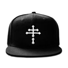 finest selection a1492 ebca0 Double Crossed embroidered in white on a crisp black flat bill snapback hat.