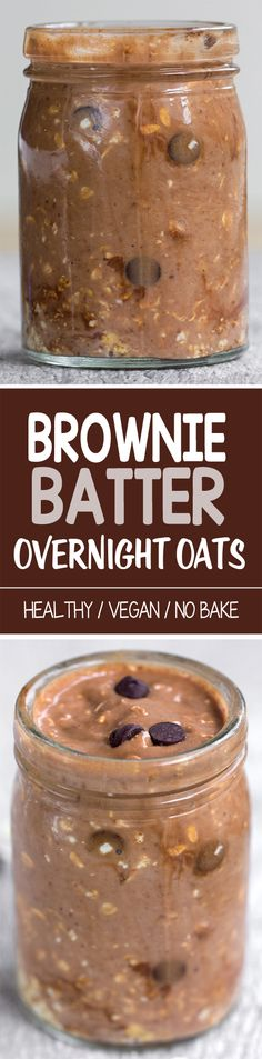 Brownie Batter Overnight Oatmeal. I want to try this!