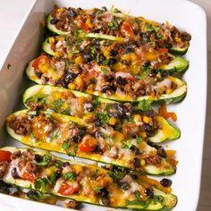 Burrito Zucchini Boats - Delicious Recipe of Angel