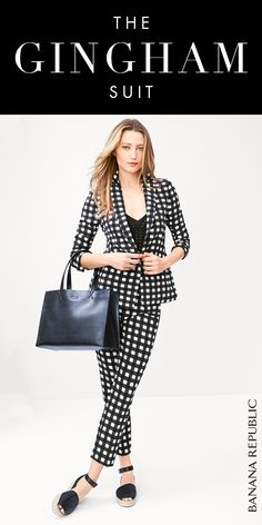 The Gingham Suit is your seasonless staple. The Gingham Blazer + Avery-Fit Gingham Pant creates a suit that's bold, flattering, and endlessly versatile. Shop now at Banana Republic.