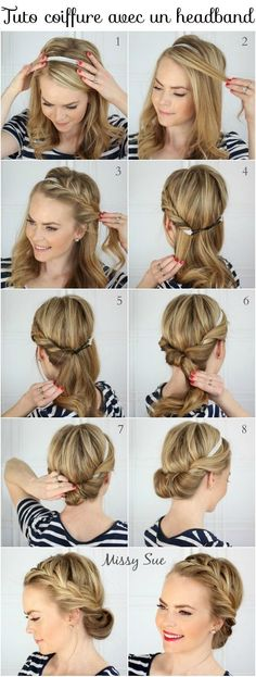 Coiffure tresse : Tuto coiffure cheveux longs et courts