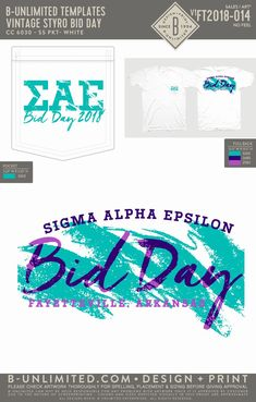 Sigma Alpha Epsilon Bid Day Shirt | Fraternity Event | Greek Event #sigmaalphaepsilon #sae #bidday Sigma Alpha Epsilon, Bid Day Shirts, Spelling, Letters, Templates, Feelings, Artwork, Design, Stencils