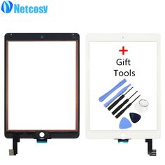 Netcosy New Touch Screen Digitizer Front Touch Panel Glass Lens for iPad Air 2 / 6 TouchScreen Replacement Spare Parts TP+Tools