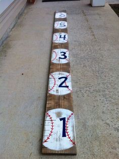 Antique Baseball Growth Chart - SIX FOOT on Etsy, $70.00