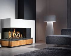 contemporary corner fireplace (gas closed hearth) FAIRO 90 HOEK LINKS Kal-fire