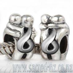 sacred-nz-sterlingsilver-charm-kiwiana-charm-eternity-hug Kiwiana, All Brands, Hug, Charmed, Sterling Silver, Beads, Accessories, Beading, Bead