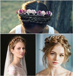 Tendencias en peinados de novia 2018 - Coronas de trenzas