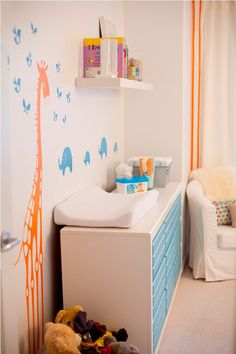 Colton's Stripes and Animal Room Small Kids, Big Color Entry #36 | Apartment Therapy