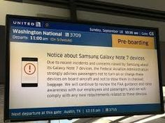 Samsung Galaxy Note 7 Banned by U S  government on all flights over fire...