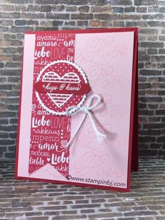 Love the Sending Love product suite from Stampin' Up!  Who do you need to send love to?  #stampinbj.com