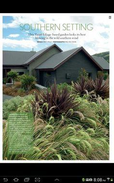 Otago garden in this months nz house and garden. Love love love. Must get natives for perfect low maintenance garden.