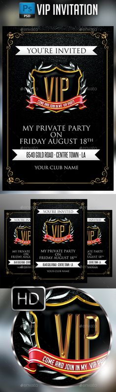 VIP Invitation - PSD Template • Only available here ➝ http://graphicriver.net/item/vip-invitation/16923618?ref=pxcr