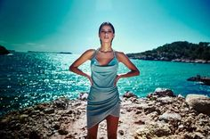 peace + love slinky midi dress duck egg blue and circle choker necklace gold