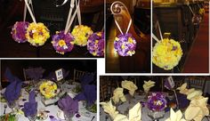 Pew pomanders - use again later as centerpieces.  (So clever!)  From our Wed!!!  Love!  :-)
