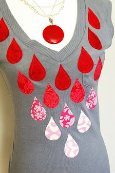 #refashion - tear drop top using Go baby from accuquilt brassyapple.com #ombre
