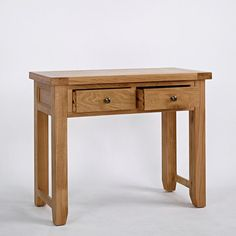 Devon Solid Oak 2 Drawer Console Table -  - Console Table - Ametis - Space & Shape - 3