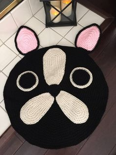 French Bulldog/Boston Terrier Rug by PeanutButterDynamite on Etsy