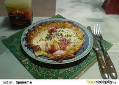 Jánošík už z mikrovlnky Czech Recipes, Snack Recipes, Snacks, Quiche, Recipies, Potatoes, Eggs, Pizza, Yummy Food