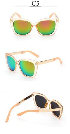 Aliexpress.com   Buy Cat Eye Women Sunglasses Original Brand Designer  Vintage Gold Alloy Round Frame Mirror Sun Glasses UV400 Oculos De Sol from  Reliable ... 81d96d994b
