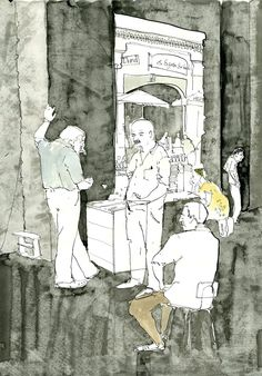 George Butler Reportage Illustrator - Backgammon Butler, Travel Drawing, Daily Drawing, Explore, Drawings, Illustration, Painting, Inspiration, Random