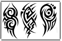 Black Tribal Tattoo Designs For Half Sleeve