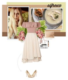 """Alfresco"" by yekyugasm on Polyvore featuring For Love & Lemons, Miguelina, Miss Selfridge, Jimmy Choo and Charlotte Russe"