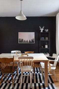 9 Room With Black Walls | Black paint can play up the drama in any space. if you have a space that gets enough light, it can be lovely, and even transcendent. This is definitely not a choice for the faint of heart, but if you're on the fence about going dark, or even if you're just considering it, maybe these pictures will be just the persuasion you need.