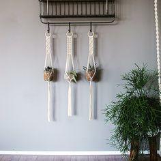 Macrame Plant Hangers / 38 Inch / 1/8 inch Braided by MangoAndMore
