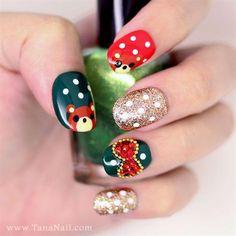 Cute bear nail art by tananail - Nail Art Gallery nailartgallery.nailsmag.com by Nails Magazine www.nailsmag.com #nailart